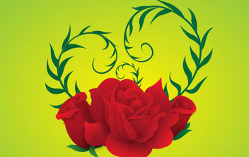 Free Vector Rose green background - Free vector #172303