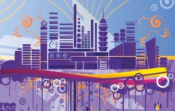 Abstract City Graphics - Free vector #172383