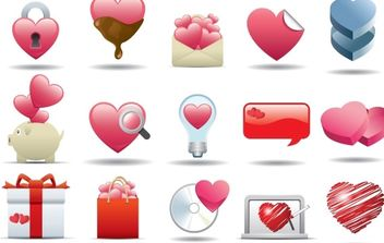 Heart Icon Set - Kostenloses vector #172413