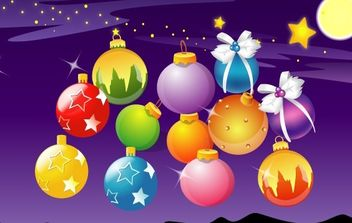 Vector Christmas Ball - vector gratuit #172463