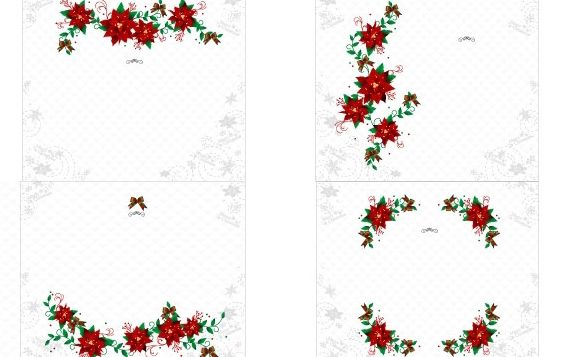 Christmas Wreaths 2 - vector gratuit #172483