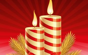 Christmas candles - vector gratuit #172503