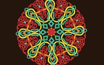 Folklore ornament - Free vector #172533