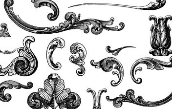 Free Vectors: Engraved Ornaments - Free vector #172573