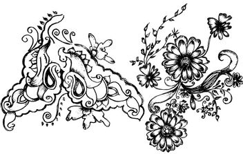 Sketchy Decorative Elements - vector gratuit #172643