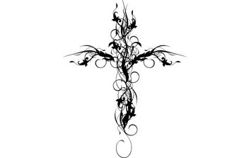 Floral Cross - Free vector #172743