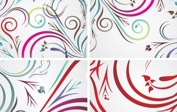 Colorful floral backrounds - Free vector #172763