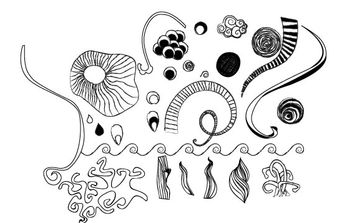 Handdrawn Vector Doodles - Free vector #172783