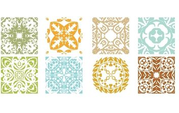 Floral Patterns - vector #172793 gratis
