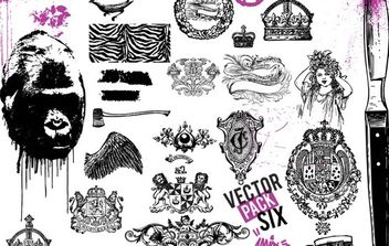 Vector Pack Sixx - Free vector #172803