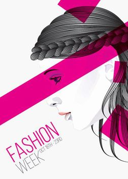 Artistic Girls Fashion Poster - бесплатный vector #172983