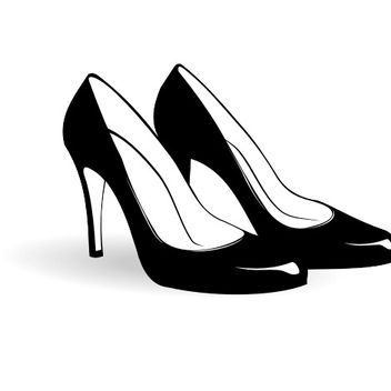 Pair of Women's Fashion Shoes - vector gratuit #173153