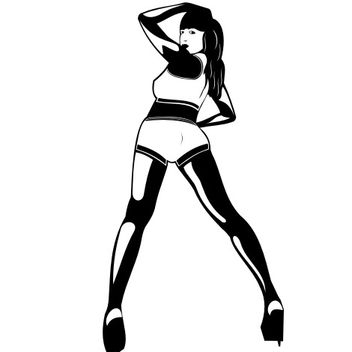 Woman Dancing in a Club Silhouette - vector gratuit #173163