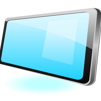 Flat Glossy Tablet PC Mockup - Free vector #173173