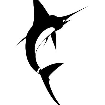 Happy Swordfish Jumping on the Air - Free vector #173193