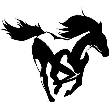Creative Prancing Horse Artwork - vector gratuit #173293