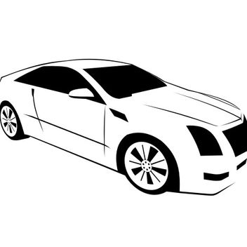 Cadillac CTS Coupe - Kostenloses vector #173343