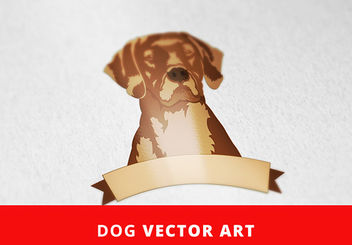 Artistic Dog with Banner - Free vector #173423