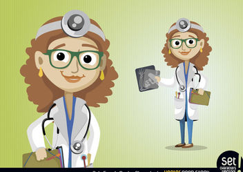 Female Doctor Character - бесплатный vector #173443