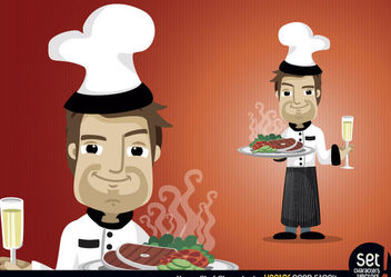 Young Chef Character Set - Free vector #173453