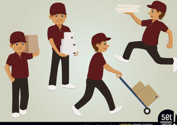 Delivery Character Set - vector gratuit #173473