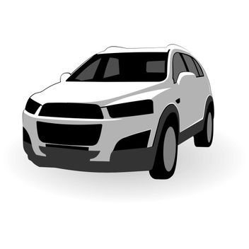 Chevrolet Captiva vector - бесплатный vector #173533