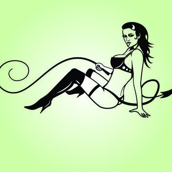 Hot B&W Gothic Lady Domina - vector #173563 gratis