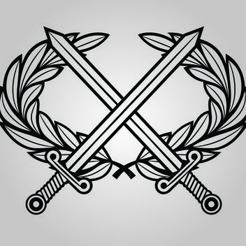 Line Art Military Coat of Arms - бесплатный vector #173573