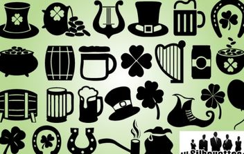 Feast of Saint Patrick Symbol Pack - vector gratuit #173693
