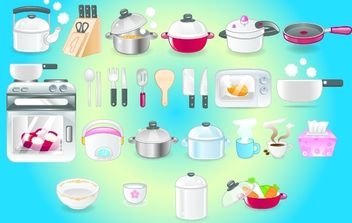 Kitchen Icon Set - Kostenloses vector #173743