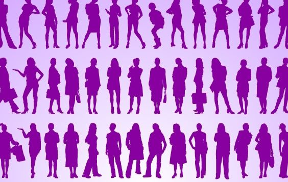 Girls Standing Pack Silhouette - Free vector #173753