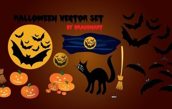 Funky Halloween Object pack - Free vector #173803