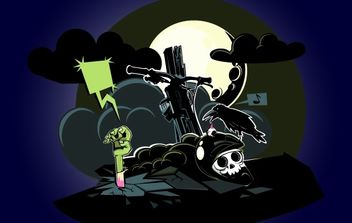 Zombie Coming Out of the Ground - vector #173853 gratis