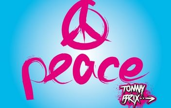 Artistic Peace Sign Design - Free vector #173913