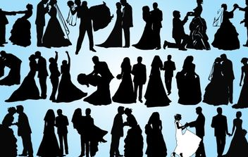 Married Couple Pack Silhouette - бесплатный vector #173933