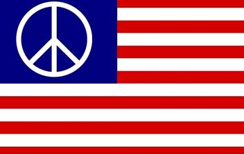 US Flag with Peace Symbol - Kostenloses vector #173943