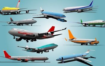 Beautiful Airplane Pack - Free vector #174013