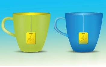 Tea Cup with Teabag - vector gratuit #174043