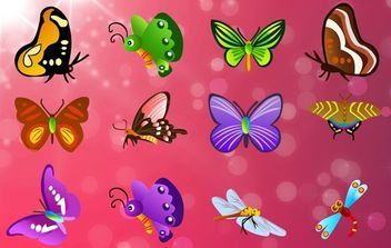 Butterfly Pack Flying Happily - Free vector #174113