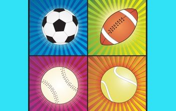 Four Sport Balls - Free vector #174153