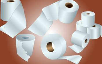 Toilet Paper Role Pack - vector #174193 gratis