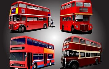 Two Stored School Bus Pack - Free vector #174263
