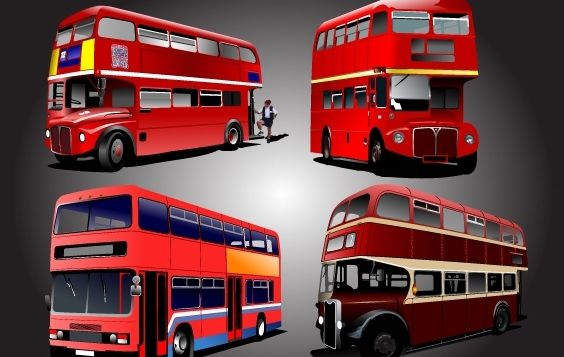 Two Stored School Bus Pack - бесплатный vector #174263