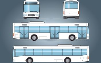 City Bus Vector - vector gratuit #174273