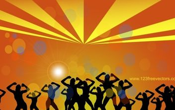 Silhouette Dance Party - Free vector #174413