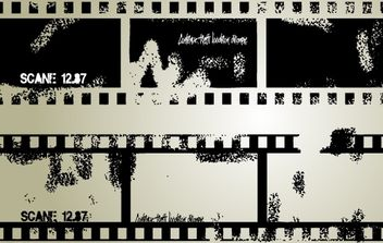 Vector Grungy Film Strip - бесплатный vector #174423
