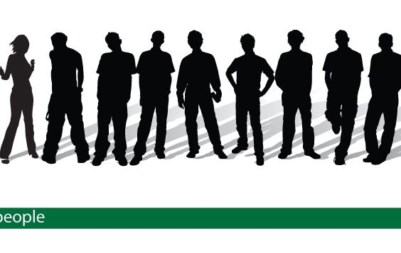 Vector Silhouette People - Free vector #174433