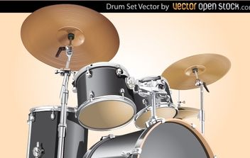Drum Set - vector gratuit #174463