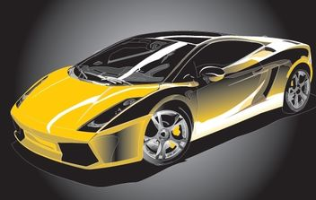 Colorful Vector Gallardo Sports Car - vector gratuit #174483