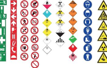 Vector Healthy and Safety Signs - Free vector #174523